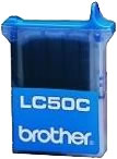Brother LC50C cyan ink cartridge